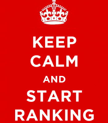 keep calm and start ranking poster